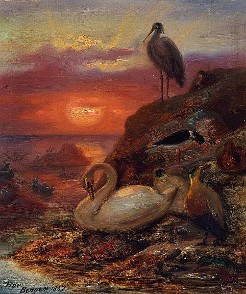 Frants_Bøe_-_Birds_in_the_midnight_sun,_1857.jpg